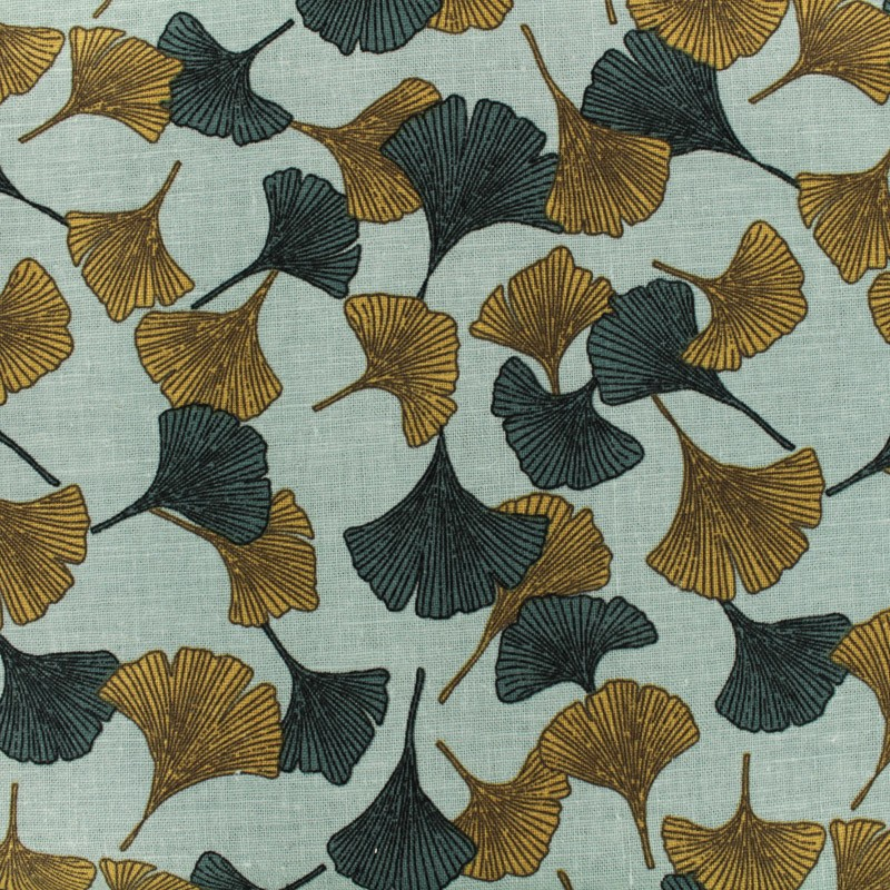 viscose linen canvas fabric gingko linosol by penelope safran and peacock x 10cm. Black Bedroom Furniture Sets. Home Design Ideas