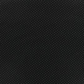 Cotton poplin satin fabric mini triangle - black x 10cm