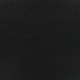 Tissu coton popeline satinée mini triangles - noir x 10cm
