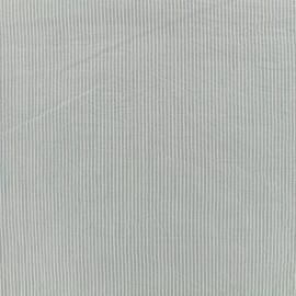 Tissu Seersucker coton fine rayure - gris x 10cm