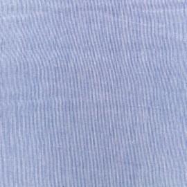 Tissu voile de coton Tiny Stripes - bleu x 10cm