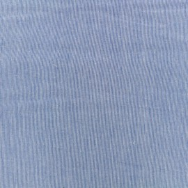 Tiny Stripes Embroidered Cotton voile Fabric - navy blue x 10cm