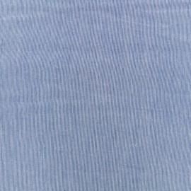 Tissu voile de coton Tiny Stripes - bleu marine x 10cm