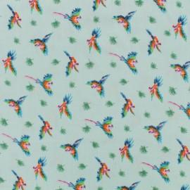 Tissu viscose Le perroquet by Penelope® - eau sauvage x 10 cm