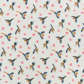 Tissu viscose Le perroquet by Penelope® - perle x 10 cm