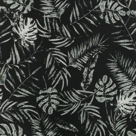 Tissu déperlant short de bain tropical - noir x 10cm