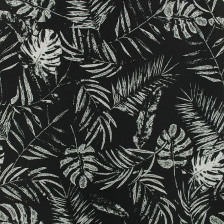 tissu d perlant graphic tropical noir. Black Bedroom Furniture Sets. Home Design Ideas