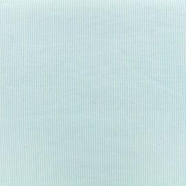 Tissu Seersucker coton fine rayure - ciel x 10cm