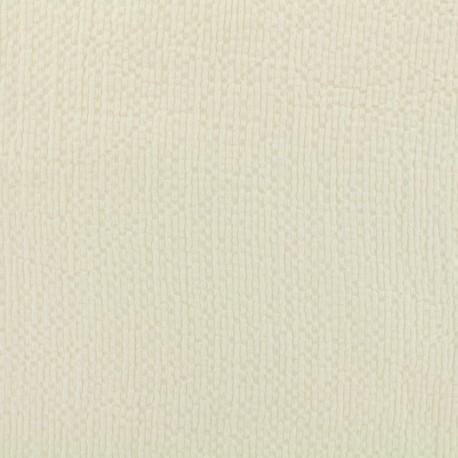 Tissu coton gaufré MPM - chantilly x 10cm