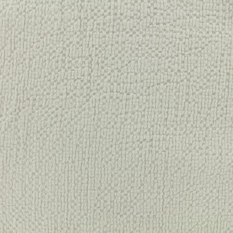 Tissu coton gaufré MPM - lichen x 10cm