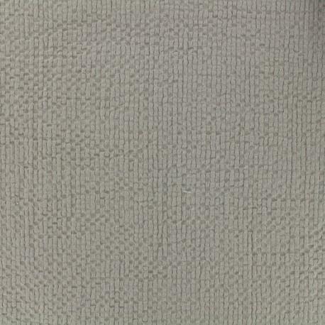 Tissu coton gaufré MPM - greige x 10cm