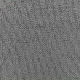 Tissu coton gaufré MPM - gris caribou x 10cm