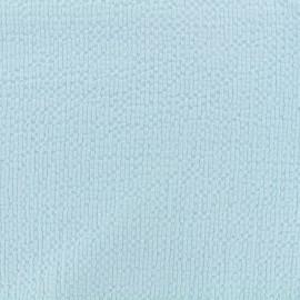 Tissu coton gaufré MPM - bleu ciel x 10cm