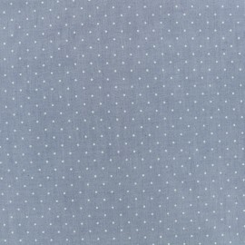 Petit Point fabric chambray - white x 10cm