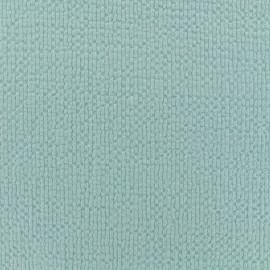 Tissu coton gaufré MPM - aqua x 10cm