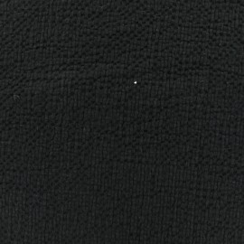 ♥ Coupon 30 cm X 130 cm ♥  Embossed cotton fabric MPM - black