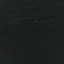 ♥ Coupon 30 cm X 130 cm ♥  Tissu coton gaufré MPM - noir