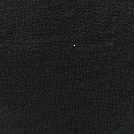 Tissu coton gaufré MPM - noir