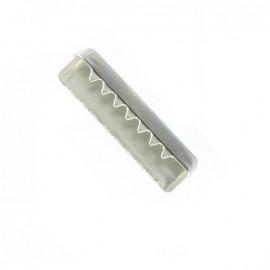 Belt buckle end tip 30 mm - nickel-plated