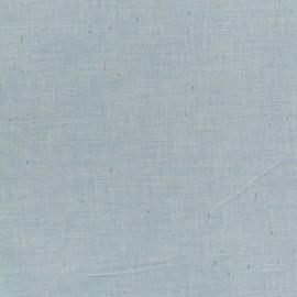 Flecked lightweight chambray fabric - blue x 10cm