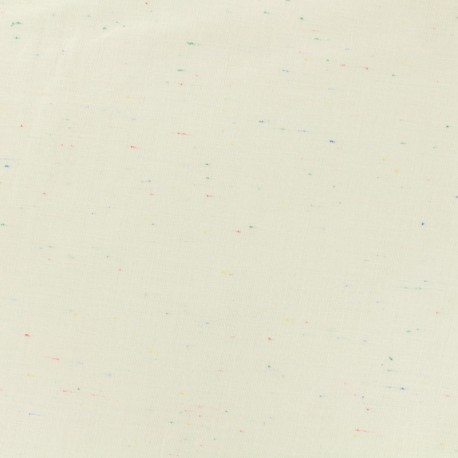 Tissu chambray léger Moucheté - écru x 10cm