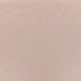 ♥ Coupon 40 cm X 140 cm ♥ Flecked lightweight chambray fabric - pink