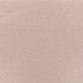 ♥ Coupon 40 cm X 140 cm ♥ Tissu chambray léger Moucheté - rose