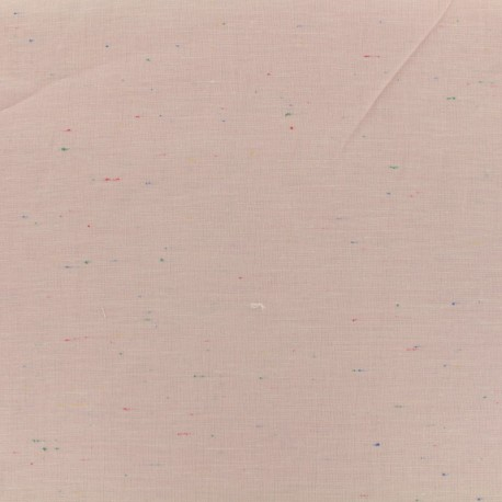 Flecked lightweight chambray fabric - pink x 10cm