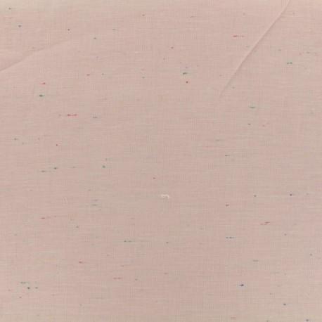 Tissu chambray léger Moucheté - rose x 10cm