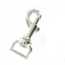Swivelling Snap-hook 20 mm square eye ? nickel-plated