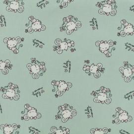 Tissu popeline de coton Oeko-Tex Poppy baby mouse - amande x 10cm