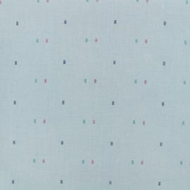 ♥ Coupon 30 cm X 145 cm ♥ Baby square chambray fabric - blue