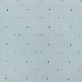 Tissu chambray Baby Square - bleu x 10cm