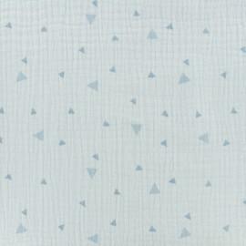 Voie lactée Double gauze fabric - blue sky x 10cm