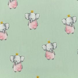Tissu popeline de coton Oeko-Tex Poppy Elegant elephant - amande x 10cm