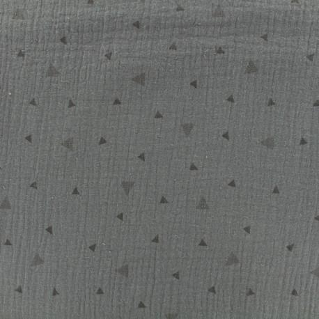 Voie lactée Double gauze fabric - light grey x 10cm