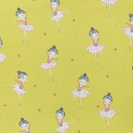 Tissu popeline de coton Oeko-Tex Poppy Pretty ballerina - miel x 10cm