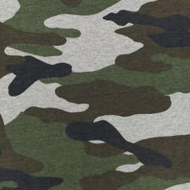 Tissu jersey Cameo - gris x 10cm