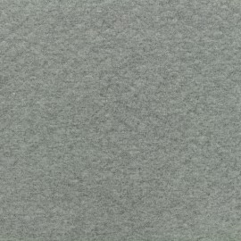 Quilted jersey fabric Diamonds 10/20 - medium grey x 10cm