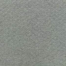 Tissu jersey matelassé losanges 10/20 - gris moyen x 10cm
