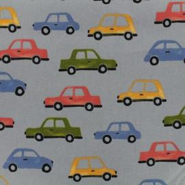 Poppy cotton fabric Traffic - grey x 10cm