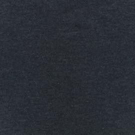 Tissu Oeko-Tex jersey uni chiné - bleu nuit x 10cm