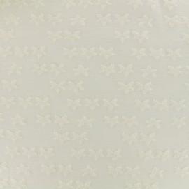 jersey oeko-tex stars velvet - ivory x 10cm