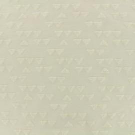 jersey oeko-tex triangle velvet - ivory x 10cm