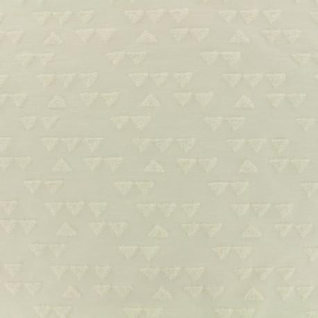 Tissu Oeko-tex jersey triangle velours - écru x 10cm