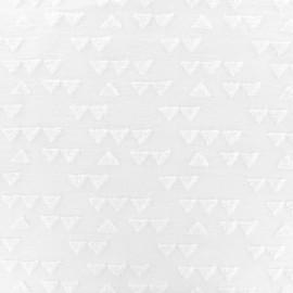 jersey oeko-tex triangle velvet - white x 10cm