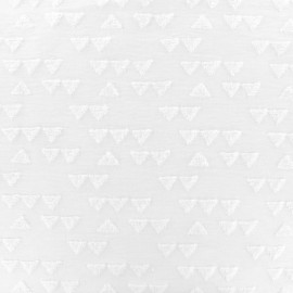 Tissu Oeko-tex jersey triangle velours - blanc x 10cm
