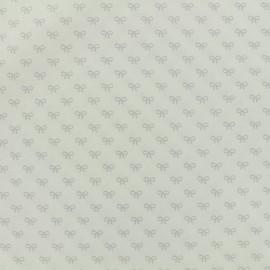 Tissu popeline de coton Oeko-Tex Poppy Sweeties - blanc x 10cm
