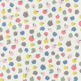 Tissu popeline de coton Oeko-Tex Poppy Sweet apples - blanc x 10cm