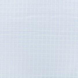 Tissu voile de coton dévoré Laura - blanc x 10cm